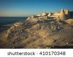 unique white moonscape beach...   Shutterstock . vector #410170348