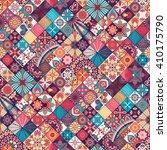 seamless pattern. vintage... | Shutterstock .eps vector #410175790