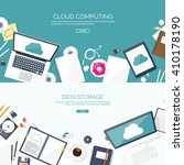 cloud computing illustration... | Shutterstock .eps vector #410178190
