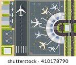 airport passenger terminal  top ... | Shutterstock .eps vector #410178790