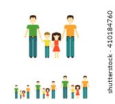 gay family with children | Shutterstock .eps vector #410184760