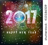 happy new year 2017 background | Shutterstock .eps vector #410186509
