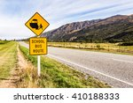 road with sign pole and blue... | Shutterstock . vector #410188333