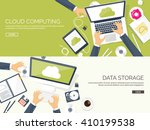 cloud computing illustration... | Shutterstock .eps vector #410199538