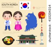 korea   infographic with... | Shutterstock .eps vector #410204314