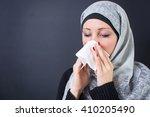 Beautiful muslim woman having a ...