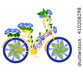 fantasy abstract bicycle   | Shutterstock .eps vector #410208298