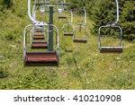 Chairlift Ski Lift In European...