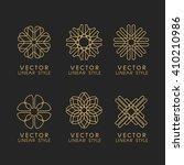 vector set of linear design...   Shutterstock .eps vector #410210986