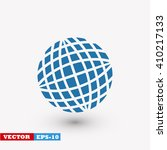 globe earth icon | Shutterstock .eps vector #410217133