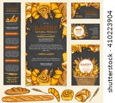 bakery products restaurant menu ... | Shutterstock .eps vector #410223904