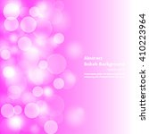 abstract pink bokeh background  ... | Shutterstock .eps vector #410223964
