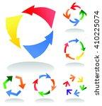 arrow signs  vector | Shutterstock .eps vector #410225074