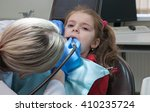modern dental clinic  young... | Shutterstock . vector #410235724