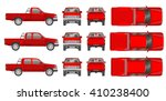 car pickup truck cabine types... | Shutterstock .eps vector #410238400