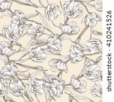 elegant seamless pattern with... | Shutterstock . vector #410241526