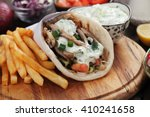 Gyros  Greek Wrapped Sandwich...