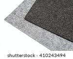 gray felt pieces on a white... | Shutterstock . vector #410243494