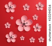 pink flowers. chinese new year. ...   Shutterstock .eps vector #410244016