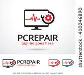 pc repair logo template design... | Shutterstock .eps vector #410246890