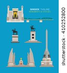 thailand monuments and statues... | Shutterstock .eps vector #410252800