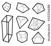 frame geometric shapes. set of... | Shutterstock .eps vector #410256688