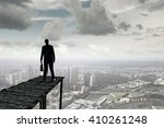 businessman stand on berth | Shutterstock . vector #410261248