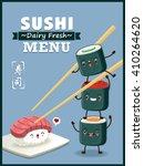 vintage sushi poster design... | Shutterstock .eps vector #410264620