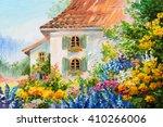 Oil Painting Landscape  House...