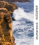 rocks and cliffs on the cote... | Shutterstock . vector #41026969