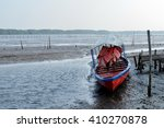 Boat Moored At The Pier During...