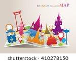 thailand landmarks map  bangkok ... | Shutterstock .eps vector #410278150