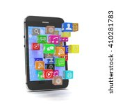 icon app fall in smart phone....   Shutterstock . vector #410281783