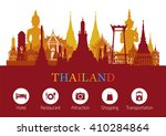 thailand landmark and icons ... | Shutterstock .eps vector #410284864
