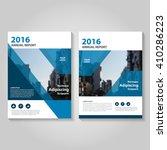 blue vector annual report... | Shutterstock .eps vector #410286223
