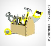 box with construction tools | Shutterstock .eps vector #410286649