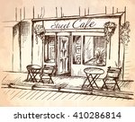 street cafe without people in... | Shutterstock .eps vector #410286814