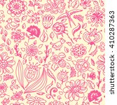 spring seamless pattern with... | Shutterstock .eps vector #410287363