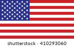 flag of usa in the right... | Shutterstock .eps vector #410293060