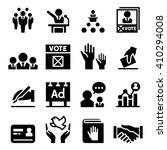 democracy   election icon | Shutterstock .eps vector #410294008