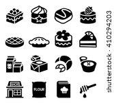 dessert   bakery  icon set | Shutterstock .eps vector #410294203
