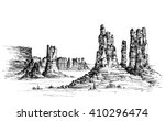 wild west iconic landscape | Shutterstock .eps vector #410296474