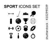 sport icons set. silhouette... | Shutterstock .eps vector #410299039