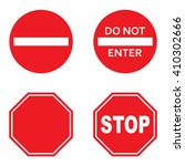 do not enter sign and stop sign ... | Shutterstock .eps vector #410302666
