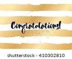 congratulations inscription.... | Shutterstock .eps vector #410302810