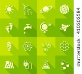 vector flat icon set   science... | Shutterstock .eps vector #410303584