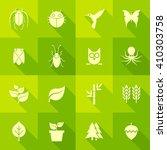 vector flat icon set   flora...   Shutterstock .eps vector #410303758