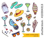 summer vacation icons  symbols  ... | Shutterstock .eps vector #410304313
