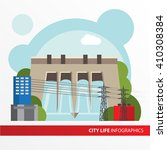 hydroelectric power station....   Shutterstock .eps vector #410308384