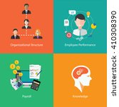 human resource icons collection ... | Shutterstock .eps vector #410308390